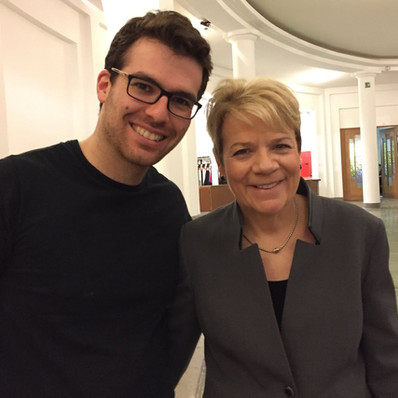 With conductor Marin Alsop