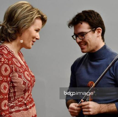 with Her Majesty Queen Mathilde of the Belgians