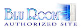 Blu Room(R) logo with door Authorized si