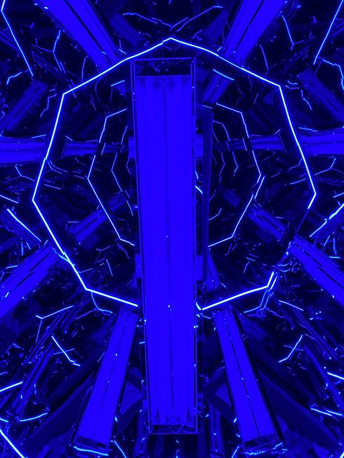 Octagonal Photo Blau Stimmungsphoto 1.jp