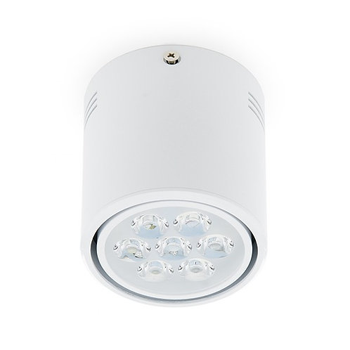 FOCO DOWNLIGHT DE SUPERFICIE DE LEDS CUERPO BLANCO 7W 700LM 30.000H