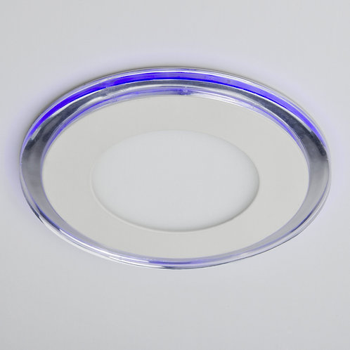 DOWNLIGHT DE LEDS CIRCULAR CON CRISTAL DUO (BLANCO/AZUL) Ø160MM 15W 1200LM 30.00
