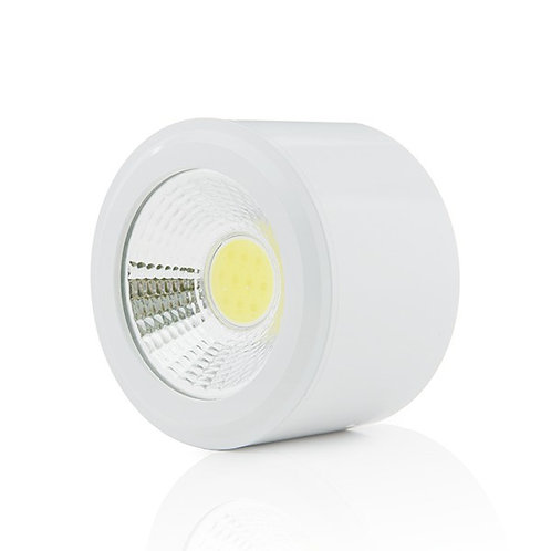 DOWNLIGHT DE LEDS DE SUPERFICIE COB CIRCULAR CUERPO BLANCO Ø68MM 5W 450L