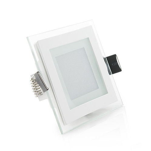 DOWNLIGHT DE LEDS CUADRADO CON CRISTAL 95X95MM 6W 450LM 30.000H