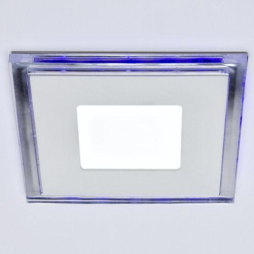 DOWNLIGHT DE LEDS CUADRADO CON CRISTAL DUO (BLANCO/AZUL) 130X130MM 10W 800LM 30.
