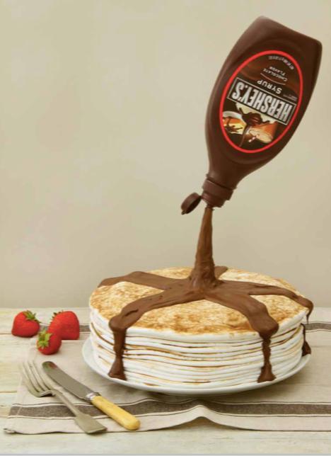 Pancake Stack Gravity Cake
