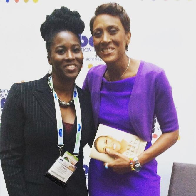 Me as the founder and president of the Minority Cannabis Business Association and Robin Roberts at t