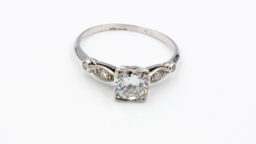 1920s Platinum Diamond Solitaire