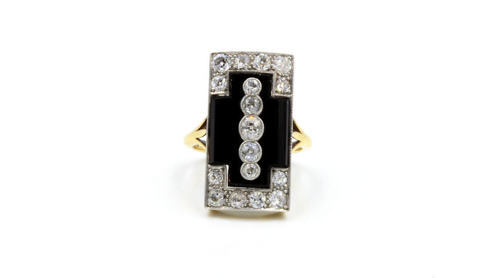 Art Deco Onyx Diamond Stunner!