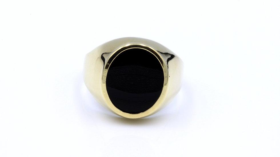9ct Onyx Signet Ring