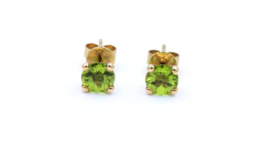 9ct Peridot Stud Earrings