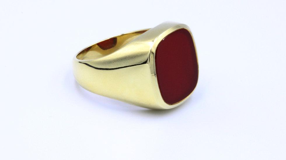 14ct Large Carnelian Ring