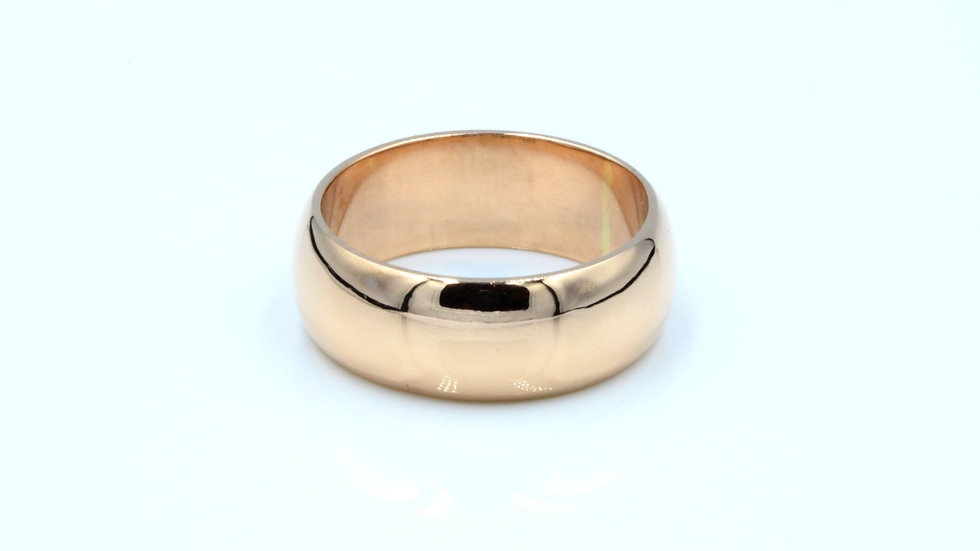 9ct Rose Gold Wedding Band Chester 1921