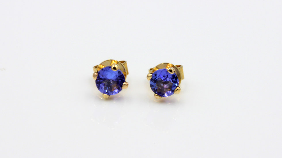9ct Tanzanite Stud Earrings