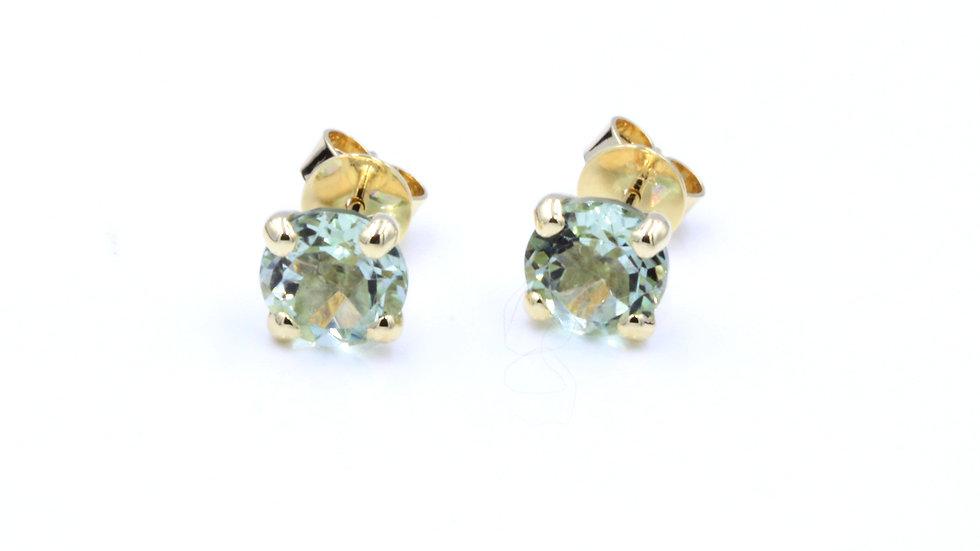 9ct Green Amethyst Stud Earrings