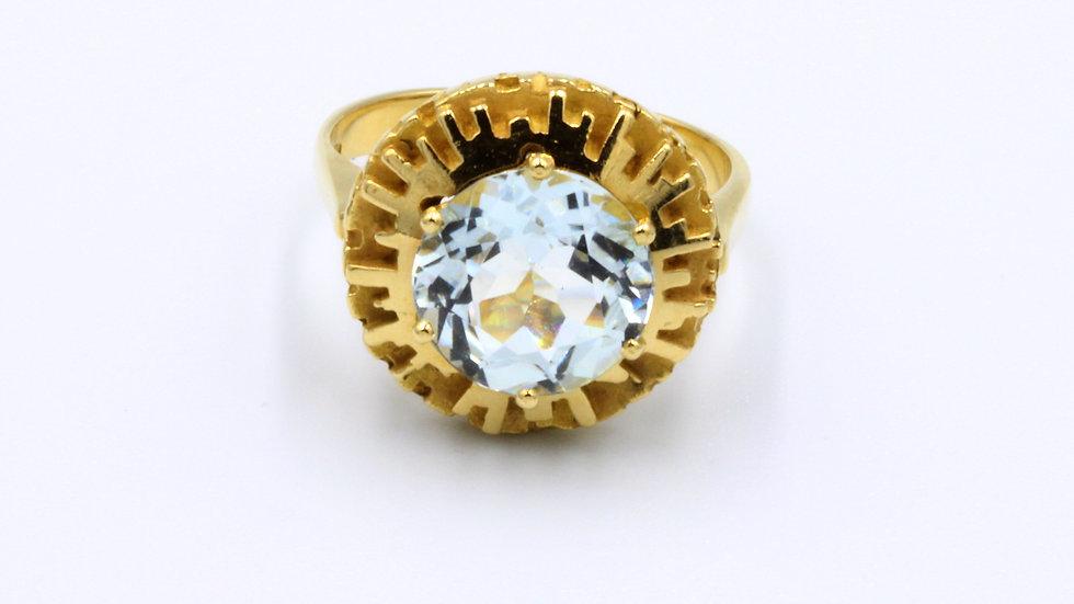 18ct Aquamarine Ring