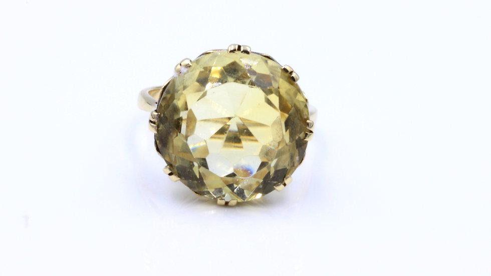 Vintage 9ct Round Citrine Ring
