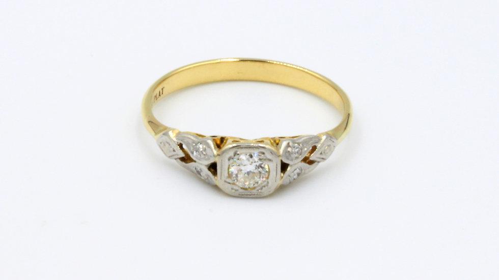 18ct Platinum Diamond Solitaire