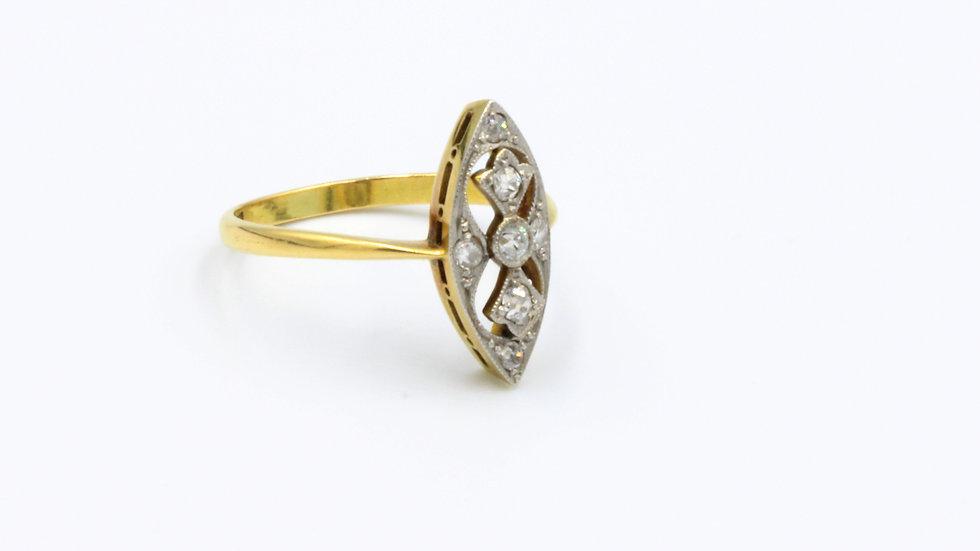 18ct Art Deco Diamond Marquis Ring