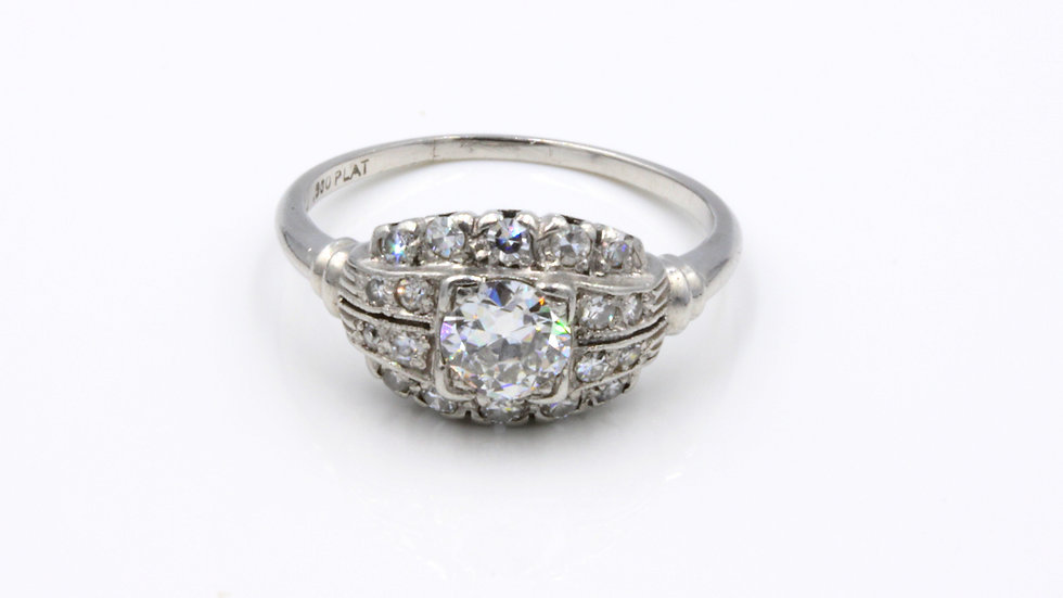 A Perfect Match!  Platinum Diamond Ring Set