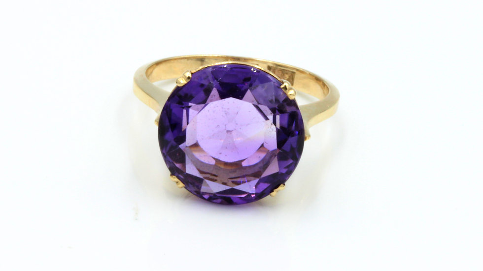 Vintage 14ct Amethyst Cocktail Ring ON HOLD