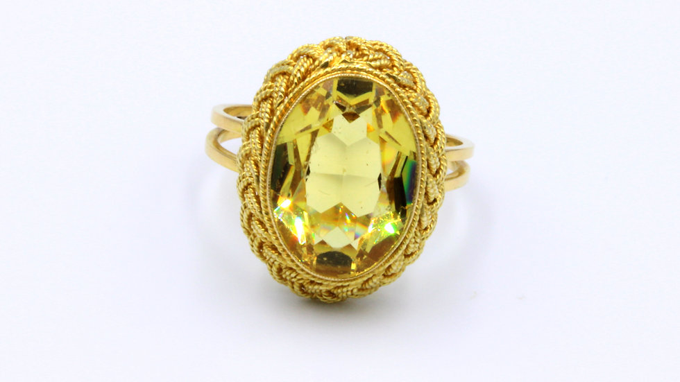 Fancy French 18ct Citrine Ring