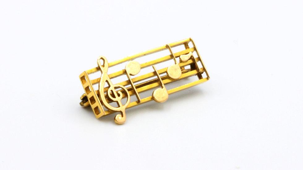 15ct Musical Dearest Brooch