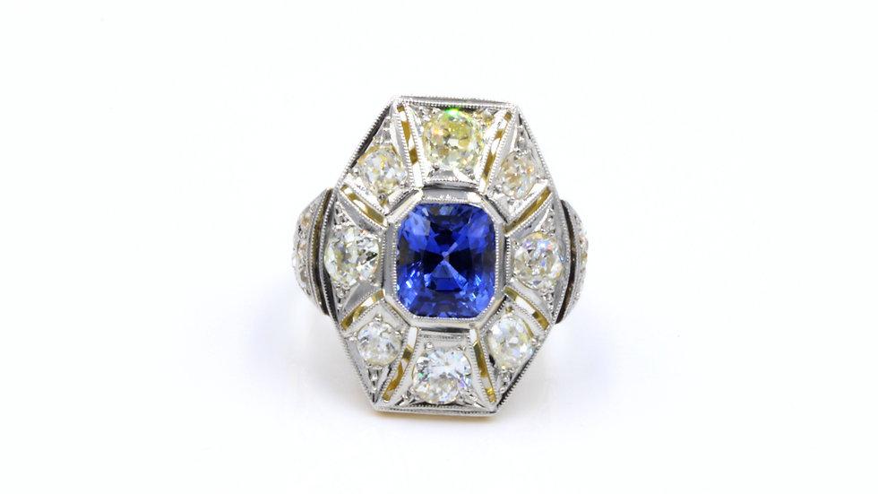 Deco Dream Sapphire Diamond Ring