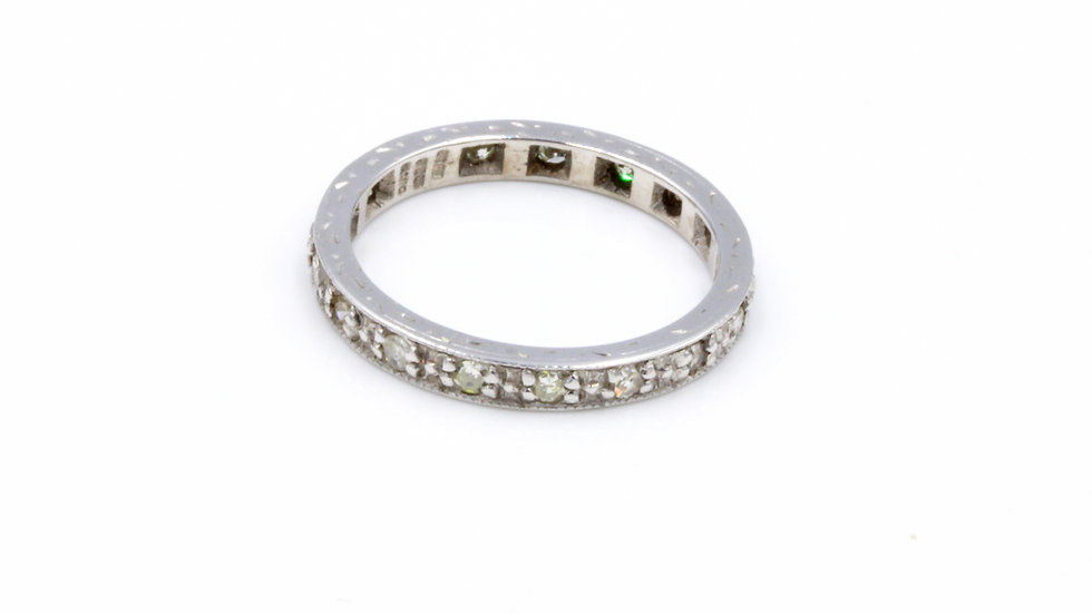 Vintage 18ct White Gold Diamond Eternity Band