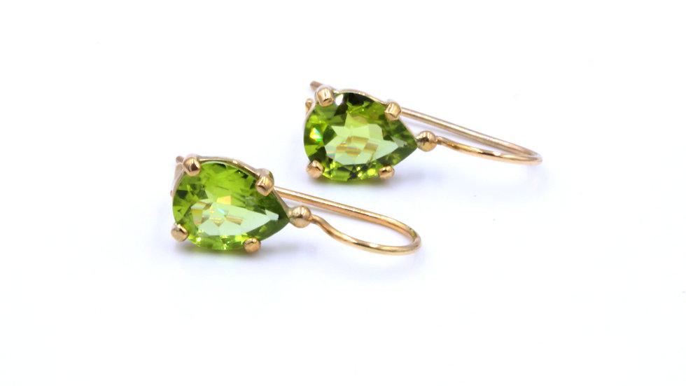 9ct Peridot Drop Earrings