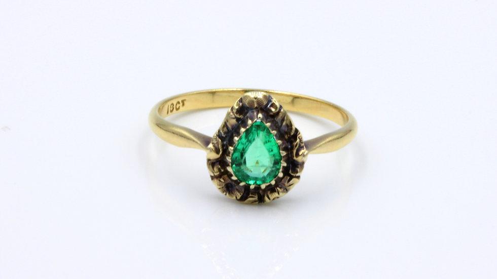 Antique 18ct Emerald Solitaire