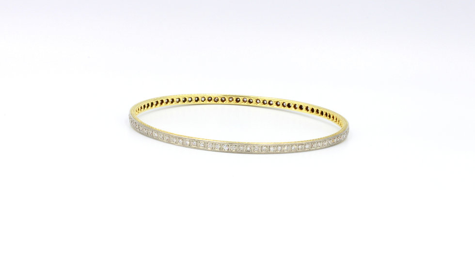 Rare Vintage 18ct Diamond Bangle