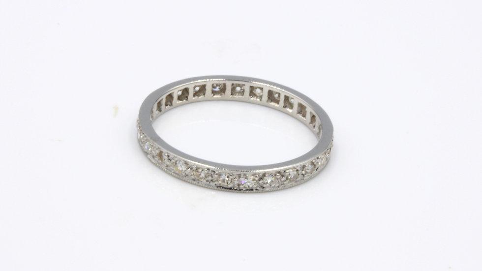 Vintage 18ct White Gold Diamond Full Eternity Band