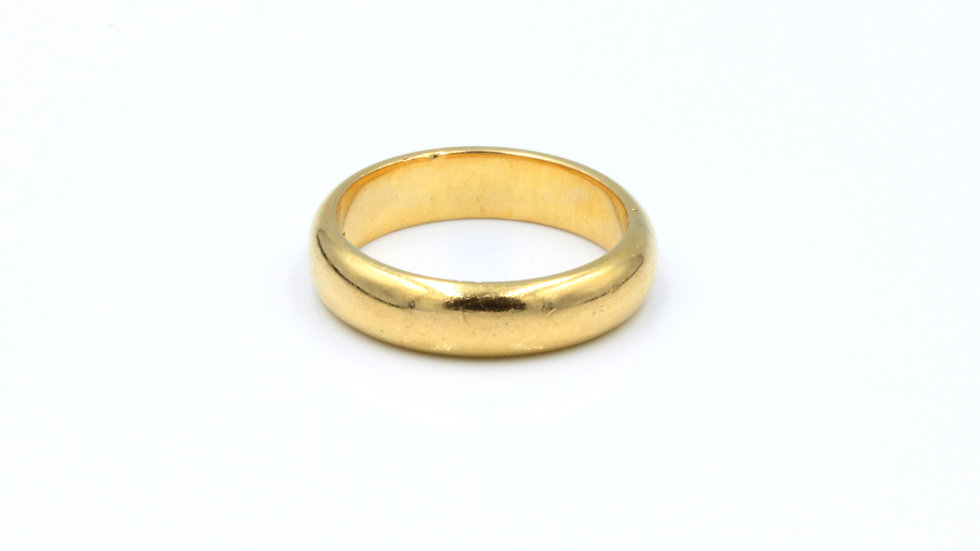18ct Yellow Gold Wedding Band by Lazarus, Perth, Aus