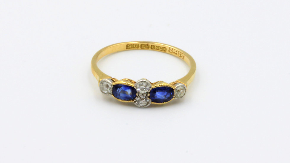 18ct Oval Sapphire and Diamond Ring