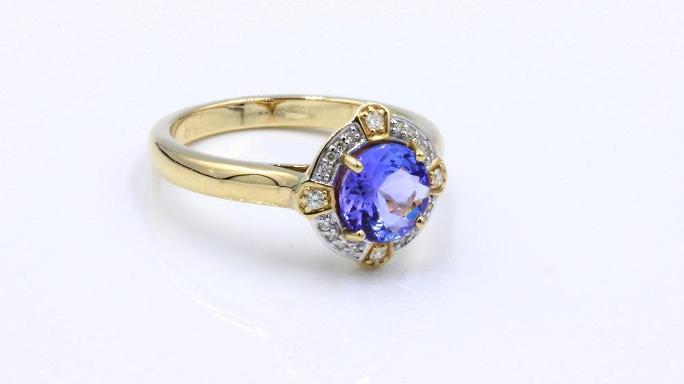 9ct Tanzanite Diamond Dress Ring
