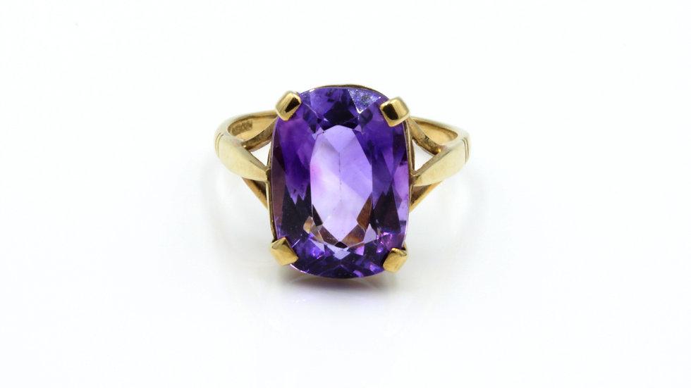Deep Purple! 9ct Cushion Cut Amethyst Ring