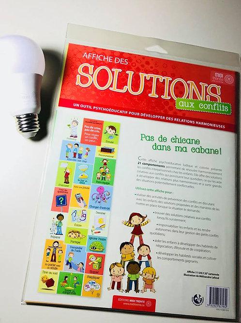 Affiche Solutions aux conflits - Éditions Midi-Trente