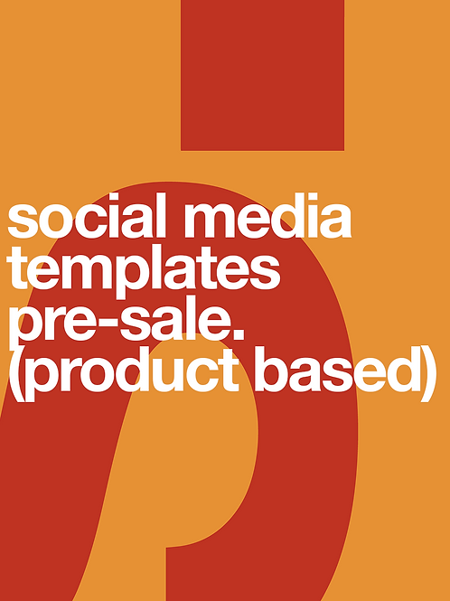 Social Media Template Pre-sale (product)