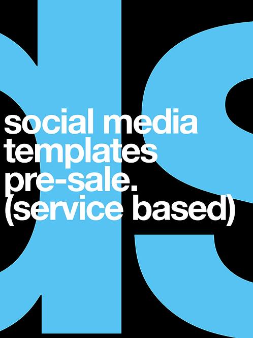Social Media Template Pre-sale (services)
