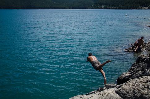 Lake Minnewanka dipping