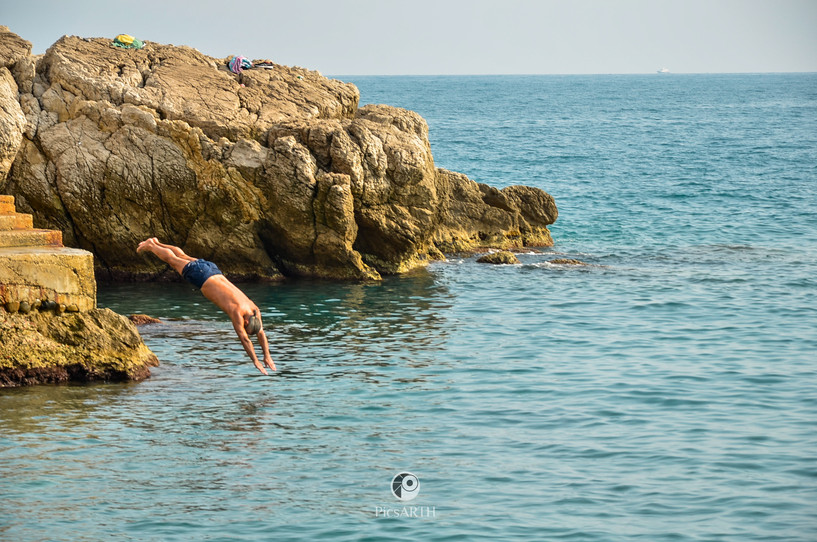 Diving in the French Riviera
