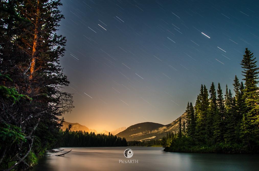 star trails, Kananaskis
