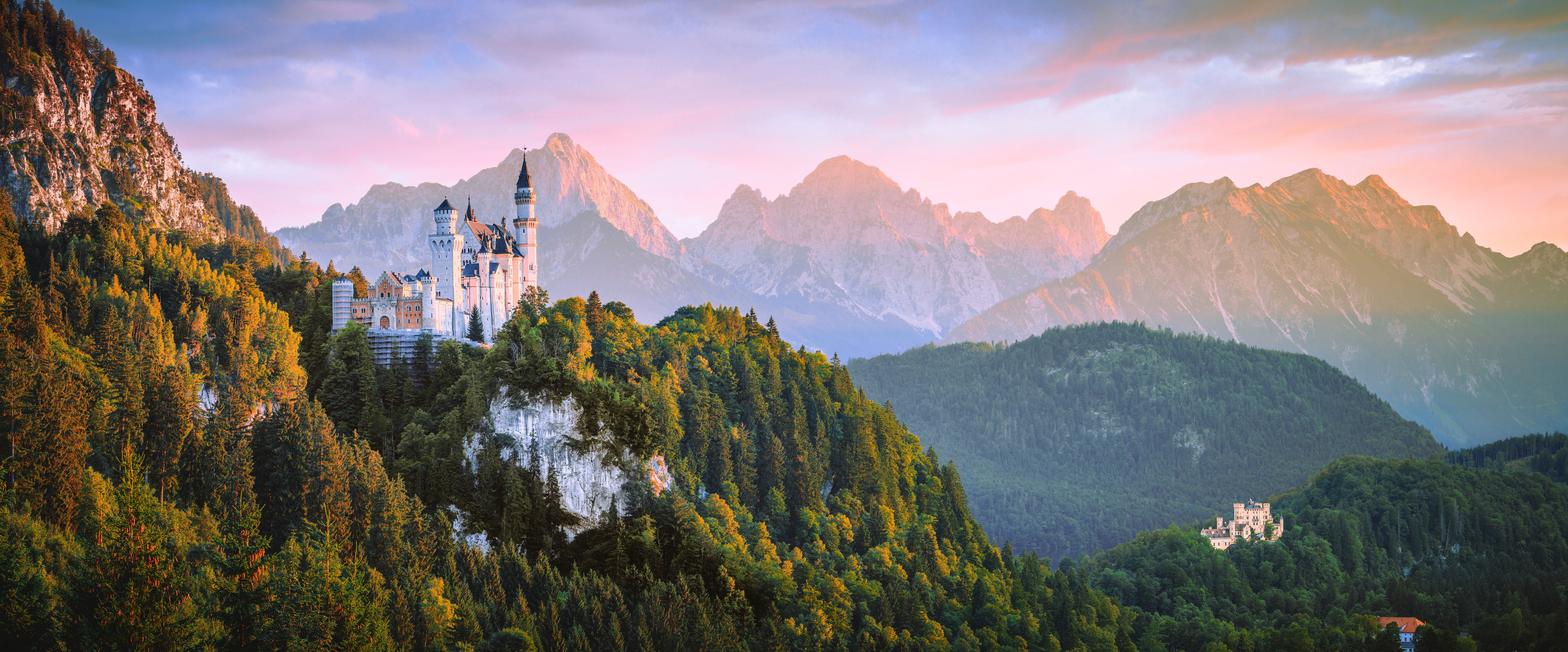 aerial-photo-of-castle-beside-forest-283
