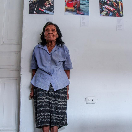 Clara from indigenous community Boora, as part of the exhibition material