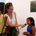 Children facilitator Maria Veronica Aro in presentation
