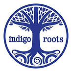 Indigo Roots logo - Indigo tree without