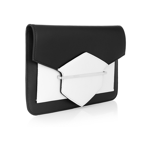k lagerfeld 2 tone leather clutch_325e.png