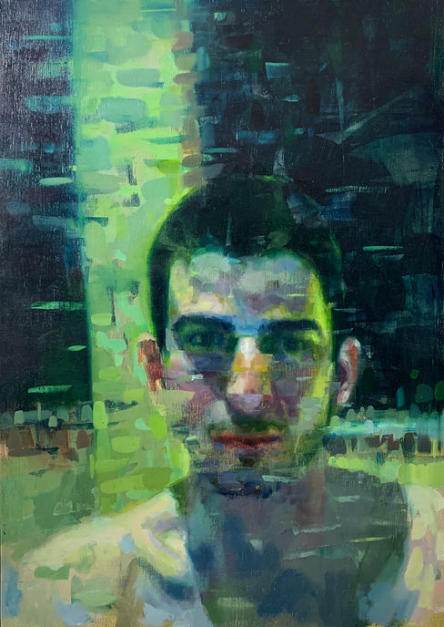 Lance Hewison figure painting contemporary art oil on canvas gay artist chat room queer
