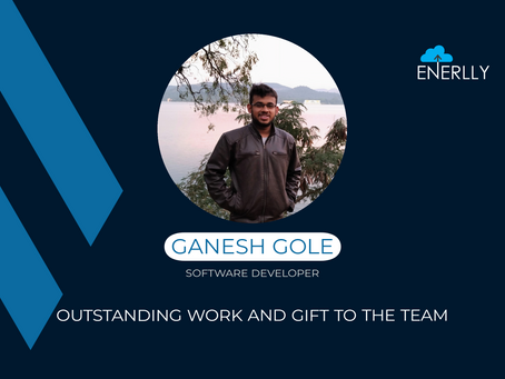My journey at Enerlly in the words of Ganesh Gole!